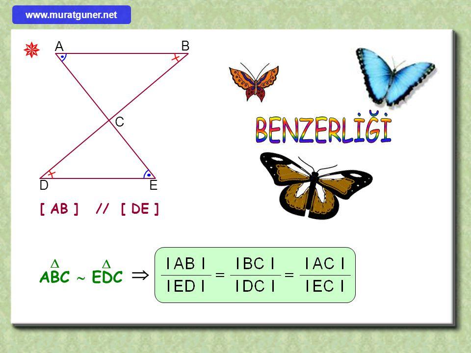  BENZERLİĞİ  ABC  EDC A B C D E [ AB ] // [ DE ]  